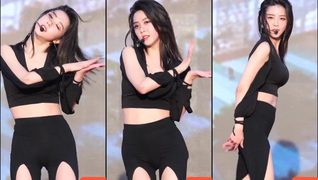 这个韩国美女身材也太好了吧!跳起舞来真的太